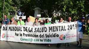 News video: Dozens march in Madrid on World Mental Health Day