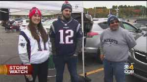 Patriots Fans Ready For Cold, Rainy Game Against Giants [Video]