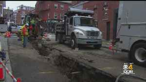Water Main Break Hits North End Street Again [Video]