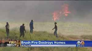 Devastating Calimesa Fire Continues To Destroy Mobile Homes In Its Path [Video]