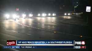 Vice President's motorcade arrives in Fort Myers early Friday [Video]
