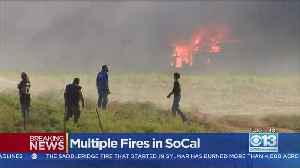 Saddle Ridge Fire Burning In Southern California [Video]