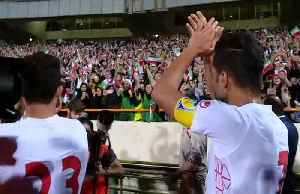 The moment Iran's soccer team thank female fans after huge win [Video]