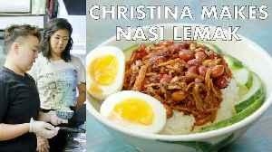 Christina Makes Nasi Lemak at Kopitiam [Video]