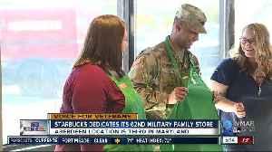 Starbucks dedicates its 62nd military family store [Video]