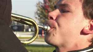Michigan Teen Who Wasn't Supposed to Walk Marches in Marching Band [Video]