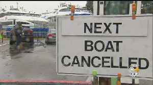 Weekend Storm Cancels Ferries To Islands, Ruins Vacationers' Plans [Video]