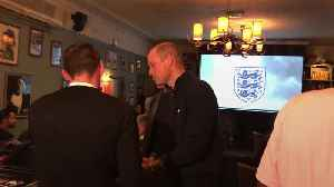 Duke of Cambridge cheers as England score against Czech Republic [Video]