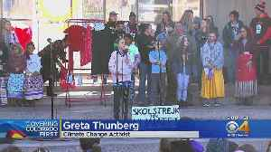 Greta Thurnberg Speaks To Hundreds At Climate Strike In Denver's Civic Center Park [Video]
