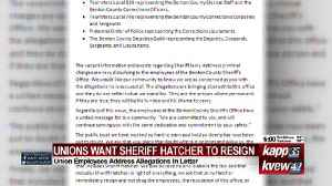 Unions Want Sheriff Hatcher To Resign [Video]