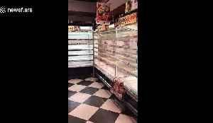 Empty supermarket shelves in Yokohama as Japan braces for powerful storm [Video]