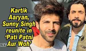 Kartik Aaryan, Sunny Singh reunite in 'Pati Patni Aur Woh' [Video]