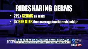 Ride shares 219 times more germy than taxis [Video]