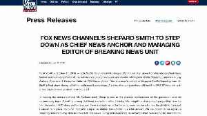 Shepard Smith exits Fox News after 23 years [Video]