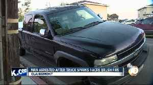 Man arrested after truck sparks Clairemont fire [Video]