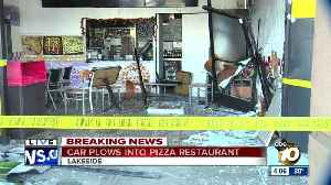 Car crashes into Lakeside pizza shop [Video]