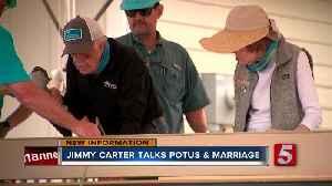 Jimmy Carter talks POTUS and Habitat build [Video]