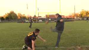 Scott Dorval Kicks a Field Goal [Video]