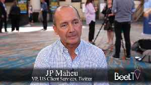 Twitter Is Where Brands Go Live: Maheu [Video]