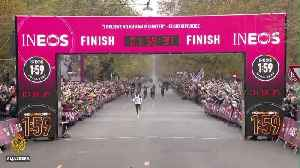 Kenya's Eliud Kipchoge finishes marathon in less than two hours [Video]