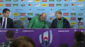 News video: Ireland 47-5 Samoa: Joe Schmidt and Rory Best look ahead to quarter-finals