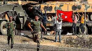 News video: Turkish troops seize the centre of Syrian border town