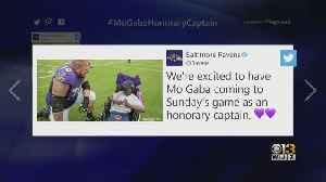 Ravens Superfan Mo Gaba Honorary Captain For Game Vs. Bengals [Video]