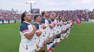 USA sing their last national anthem at Rugby World Cup 2019 [Video]