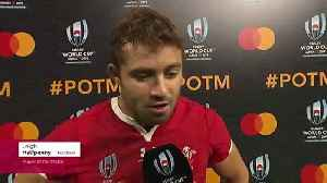 Leigh Halfpenny wins Player of the Match for Wales [Video]