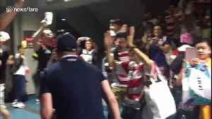 Fans celebrate Japan's historic victory over Scotland at Yokohama stadium [Video]