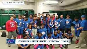 Josh Allen makes surprise appearance at local high school football game [Video]
