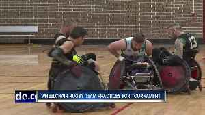 Local wheelchair rugby team practicing for tournament [Video]