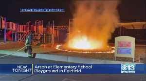 Firefighters Searching For Suspected Arsonist Who Set Fairfield School Playground Ablaze [Video]