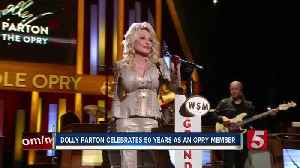 News video: Dolly Parton celebrates 50 years as Grand Ole Opry member