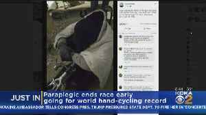 Paraplegic Going For World Record Ends Race Early [Video]