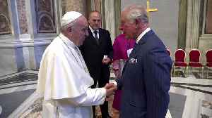 The Prince of Wales meets the Pope [Video]
