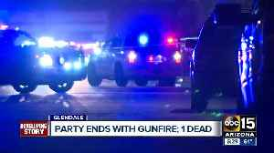 Party ends with gunfire; one dead [Video]