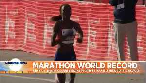 Kenyan Brigid Kosgei sets new women's marathon world record, beating Paula Radcliffe's 2003 time [Video]
