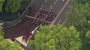 Aerials over Westminster ahead of The Queen's Speech [Video]