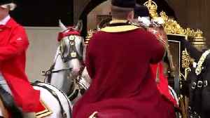 Queen departs following her speech in the House of Lords [Video]