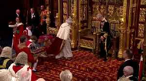 Pomp and controversy on day of Queen's speech [Video]