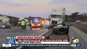 One dead after collision on I-5 involving big rig [Video]