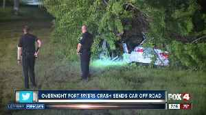 Police investigating a car that run into a tree in Fort Myers overnight [Video]