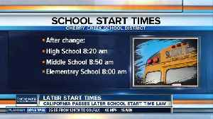 Calif. is first state to mandate school start times, some Colo. school districts already made change [Video]