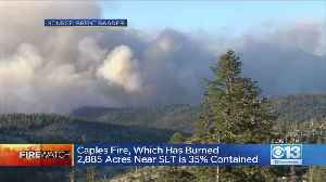 News video: Caples Fire Burning 2,885 Acres Near South Lake Tahoe 35% Contained