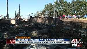 Congregation gathers, reminisces after 135-year-old church burns down [Video]