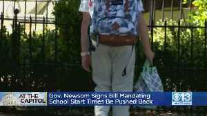 Gov. Newsom Signs Bill Mandating School Start Times Be Pushed Back [Video]