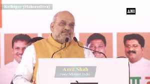Congress, NCP should clear their stand on Article 370 Amit Shah in Kolhapur [Video]