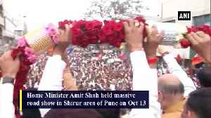 Maharashtra polls Amit Shah holds road show in Pune's Shirur [Video]