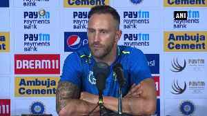 Test series in India is real character test Proteas skipper Faf du Plessis [Video]